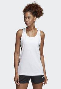 adidas Performance - TANK - Sportshirt - white/black - 0