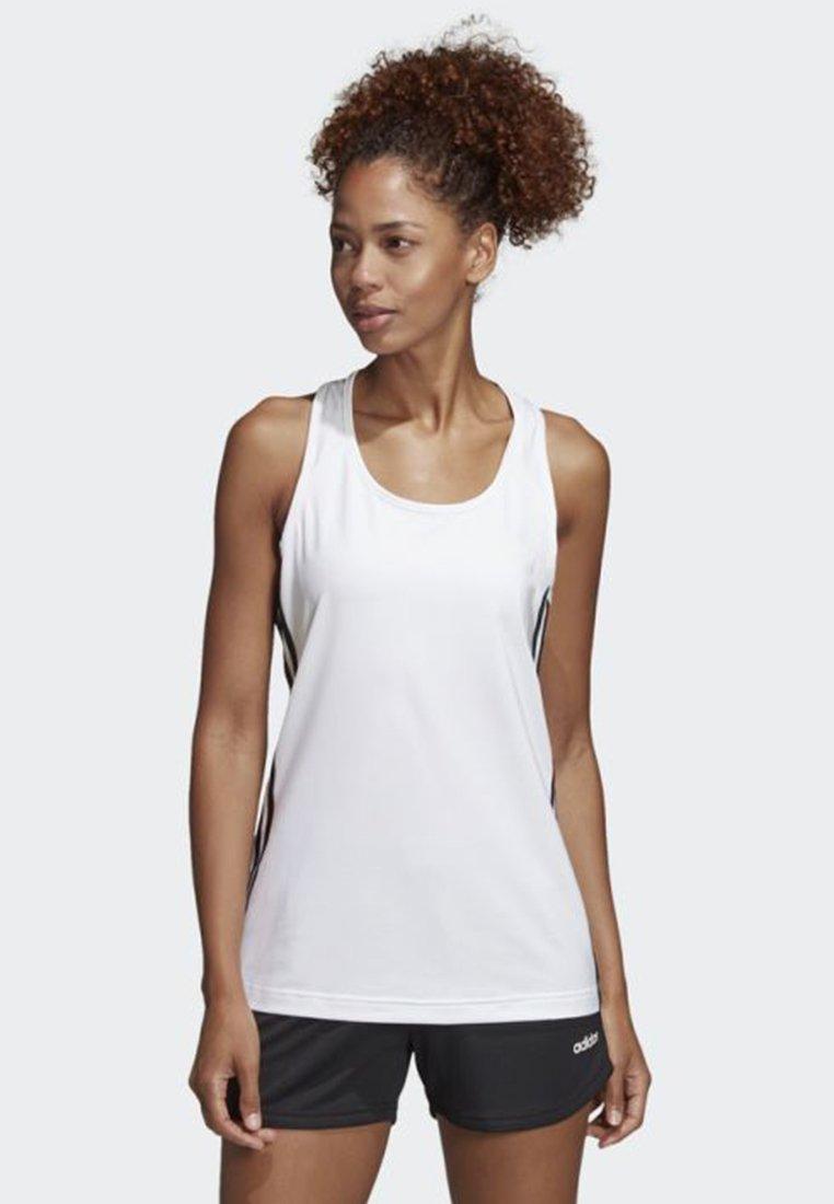 adidas Performance - TANK - Sportshirt - white/black