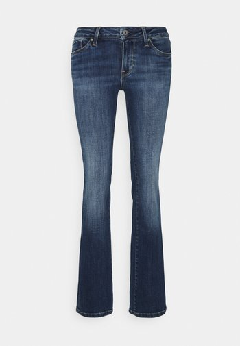 PICCADILLY - Bootcut jeans - stone blue denim