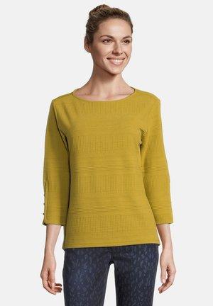 MIT RIPPENSTRUKTUR - Sweatshirt - ecru olive