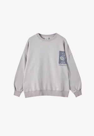 Sweatshirt - mottled purple