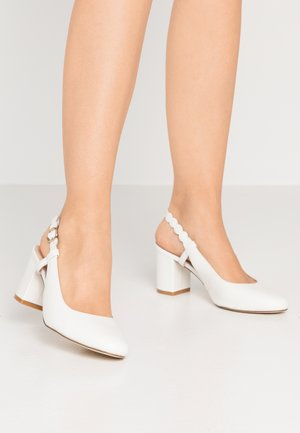 LEATHER CLASSIC HEELS - Pumps - white