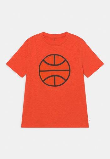BOY TEE TENTACLE BASKETBALL 3D - T-shirts print - orange pop