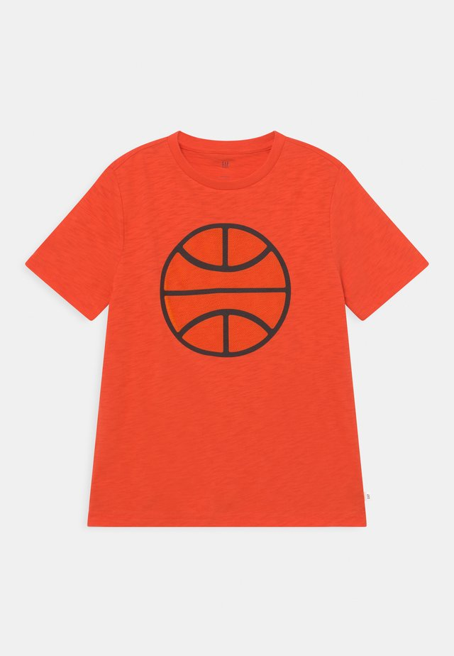 BOY TEE TENTACLE BASKETBALL 3D - T-shirt con stampa - orange pop