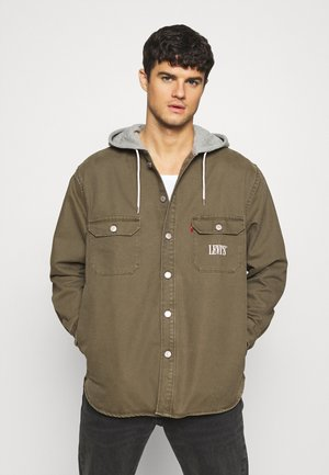 HOODED JACKSON OVERSHIRT - Lehká bunda - olive night