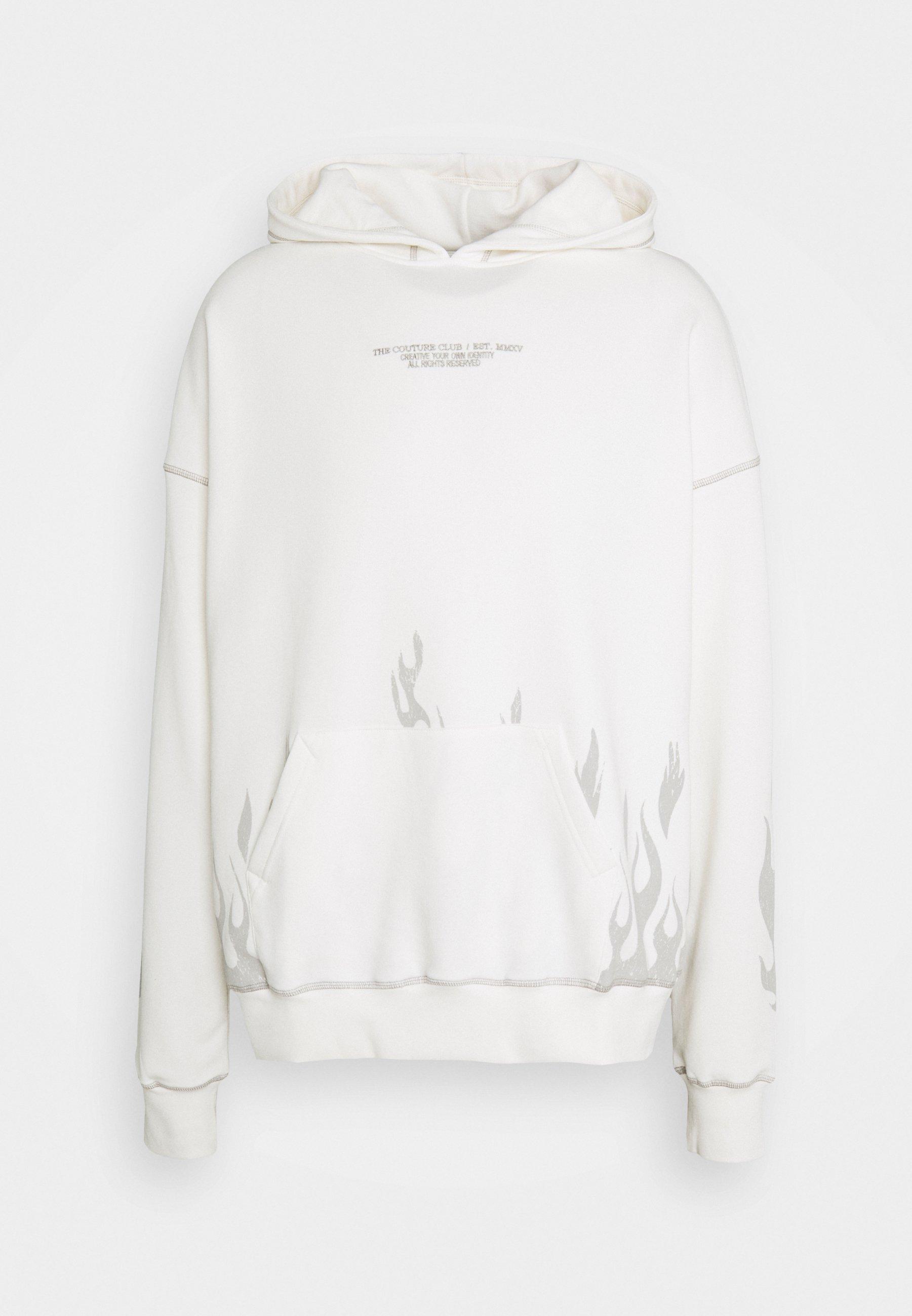 Homme BOXY DISTRESSED FLAME GRAPHIC HOOD - Sweatshirt