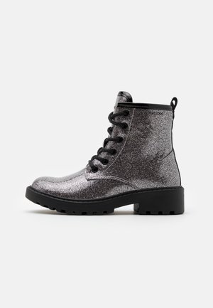 CASEY GIRL - Lace-up ankle boots - dark silver