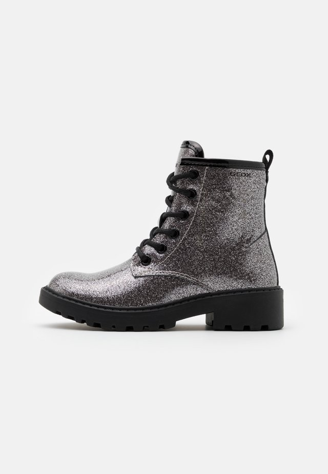 CASEY GIRL - Bottines à lacets - dark silver