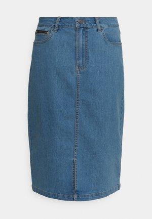 KATALIN SKIRT - Denim skirt - light blue washed denim