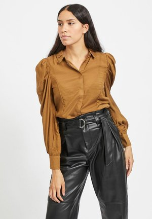 Button-down blouse - tapenade