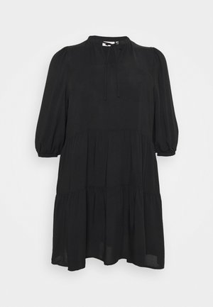 CARNEWMARRAKESH 3/4 TUNIC DRESS - Day dress - black