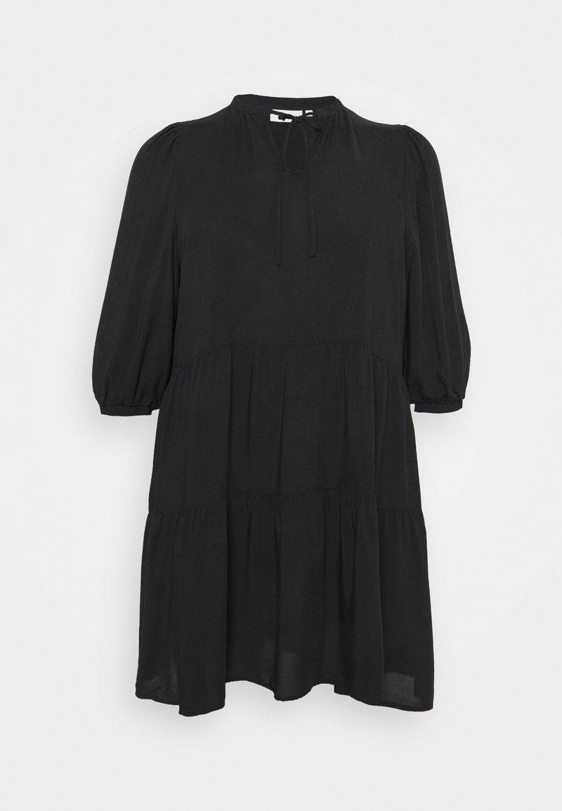 ONLY Carmakoma - CARNEWMARRAKESH 3/4 TUNIC DRESS - Day dress - black
