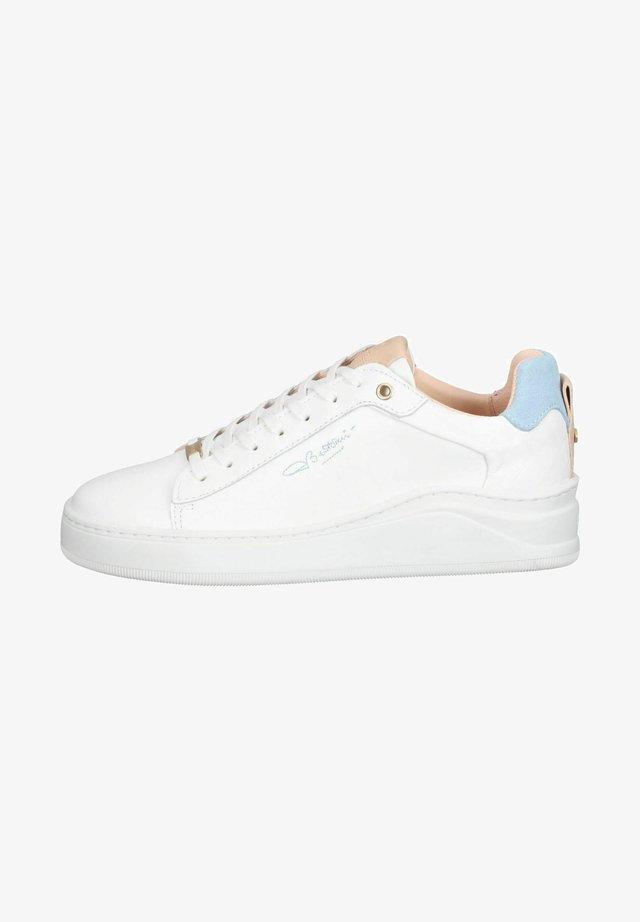 Sneakers laag - white light blue