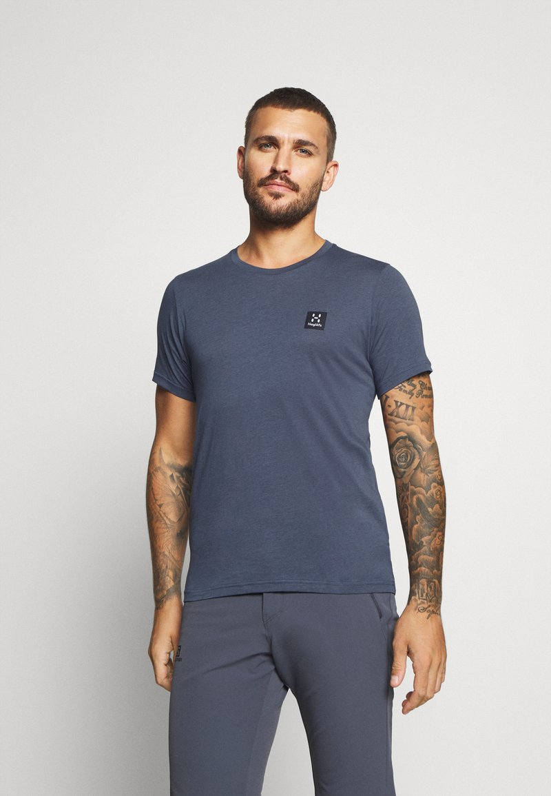 Haglöfs - TEE MEN - Basic T-shirt - dense blue