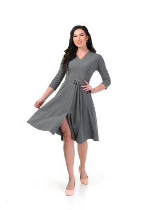 VERONICA - Day dress - gray