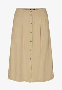 Vero Moda - Pleated skirt - beige - 4
