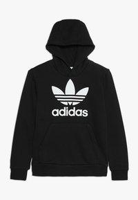adidas Originals - TREFOIL HOODIE UNISEX - Bluza z kapturem - black/white - 0