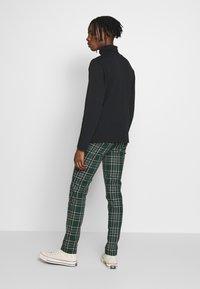 Topman - CHECK - Kalhoty - green - 2