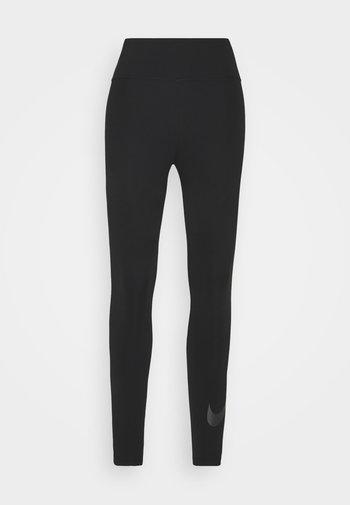 NIKE ONE 7/8 - Leggings - black/white