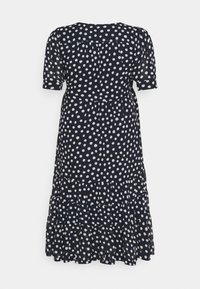 Forever New Curve - WRAP TIERED MIDI DRESS - Day dress - navy - 1