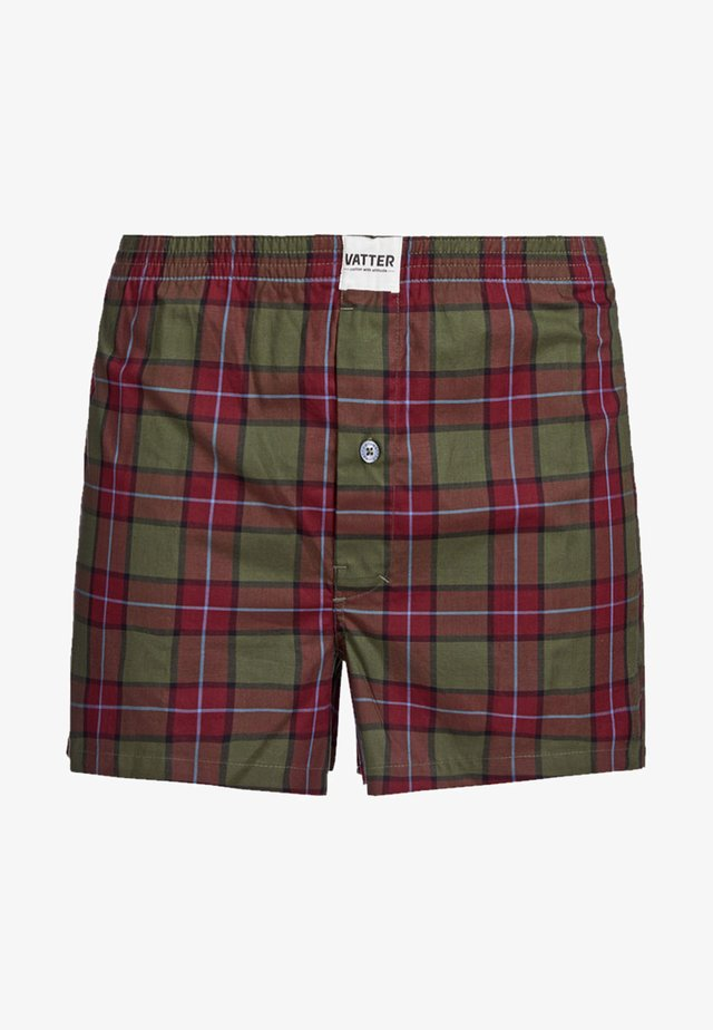 Boxer shorts - red/green