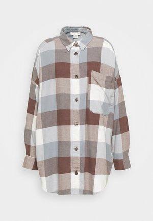 Button-down blouse - blue dusty light