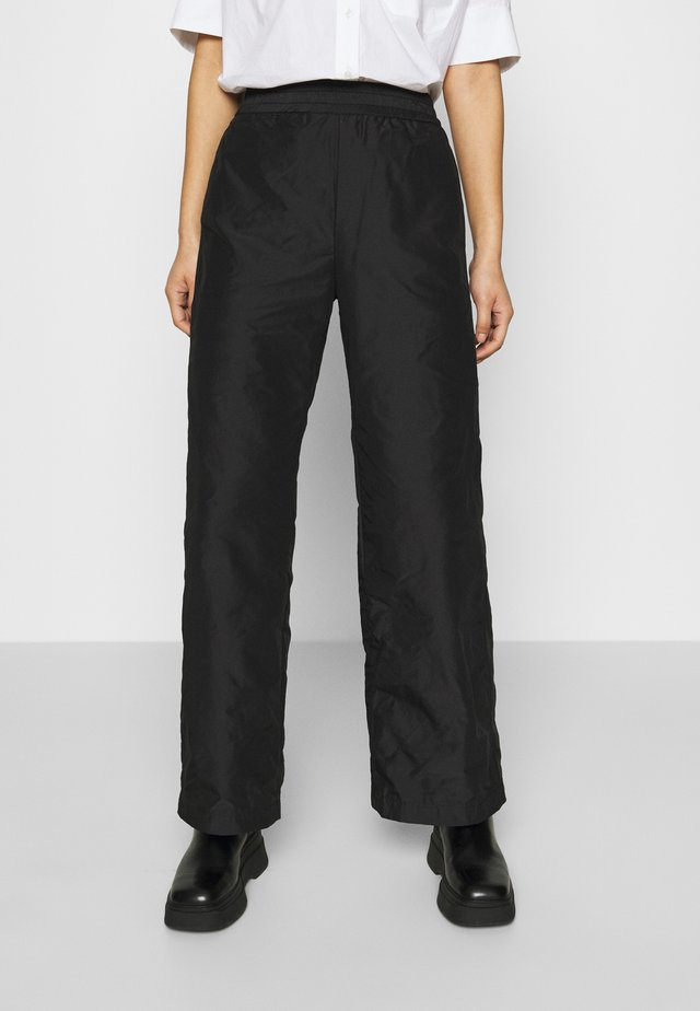 ACE TROUSER - Broek - black taffeta