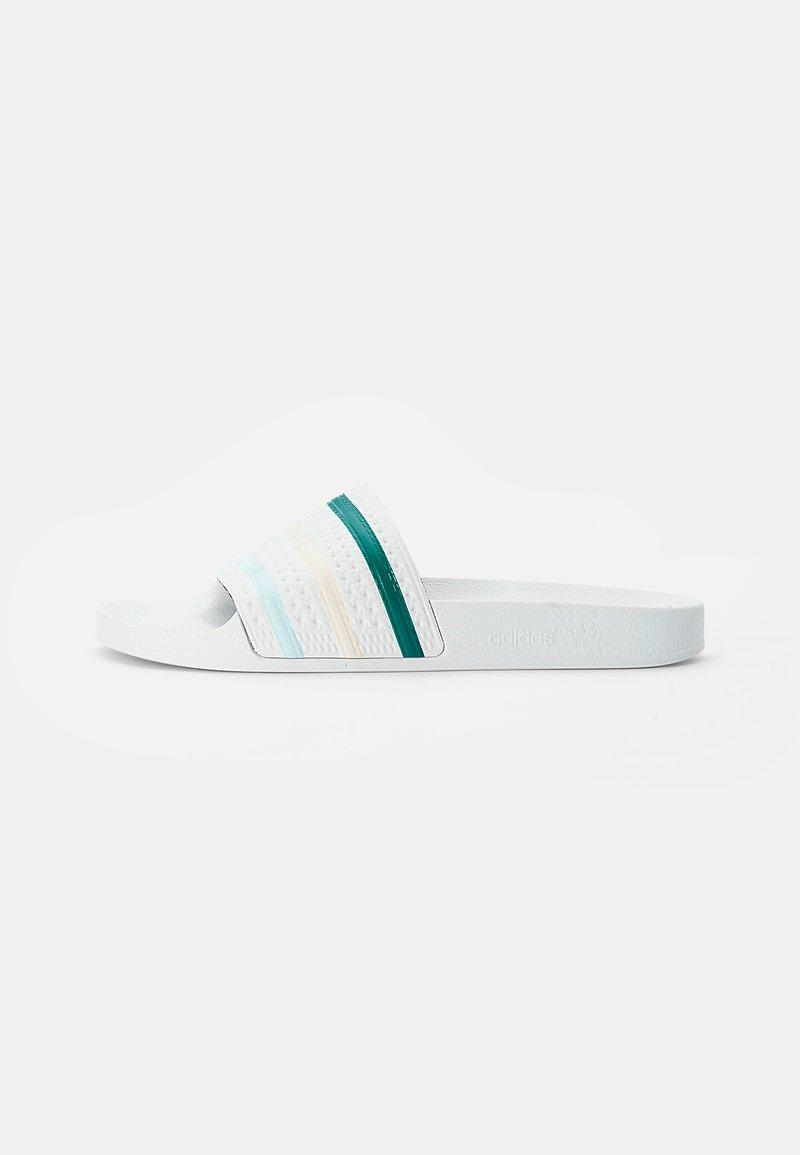 adidas Originals - ADILETTE - Sandali da bagno - white/halo mint