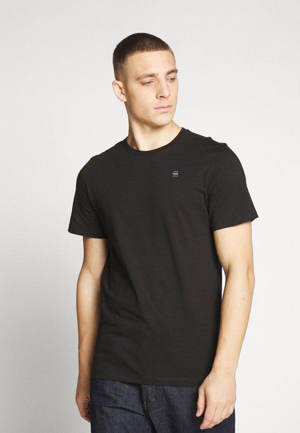 G-Star BASE-S R T S\S - T-shirt basic - black/czarny Odzież Męska OHQX
