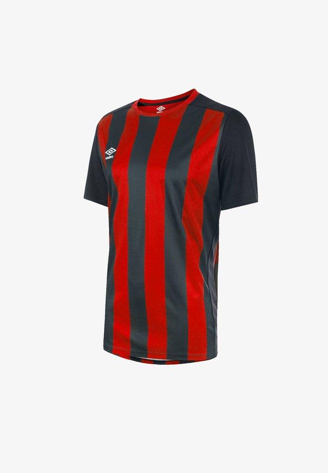 Print T-shirt - schwarzrot