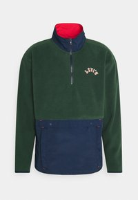 Levi's® - QUARTER ZIP POLAR UNISEX - Zip-up hoodie - dark green/dark blue - 0