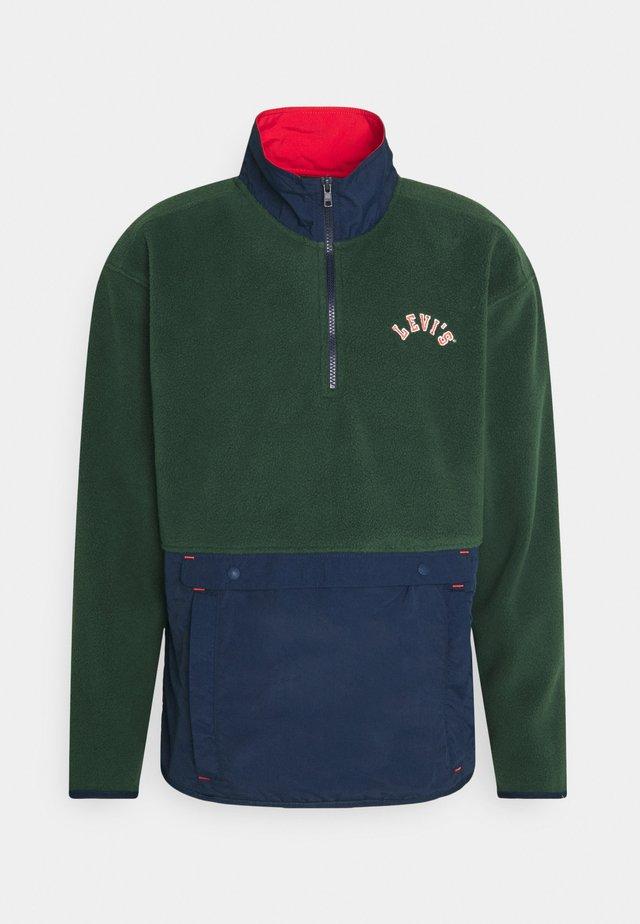 QUARTER ZIP POLAR UNISEX - Zip-up hoodie - dark green/dark blue