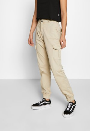 LADIES HIGH WAIST CARGO - Cargo trousers - concrete