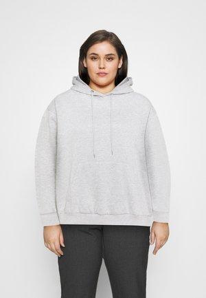 Mikina skapucí - mottled light grey