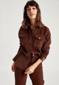 DeFacto - Button-down blouse - brown - 4