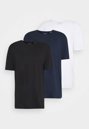 JORBASIC TEE CREW NECK 3 PACK - Basic T-shirt - navy blazer/white/black