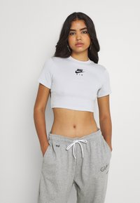 Nike Sportswear - AIR CROP - Print T-shirt - pure platinum - 0