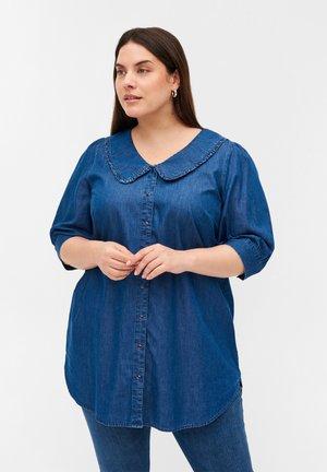 Button-down blouse - blue denim ass