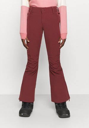 CREEK - Pantalón de nieve - oxblood red