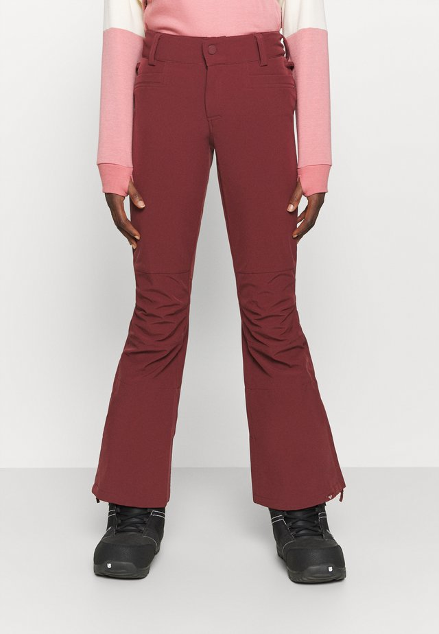 CREEK - Pantaloni da neve - oxblood red