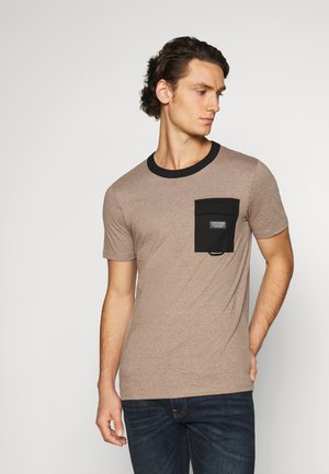 JCOBLUE TEE CREW NECK - T-shirt basic - crockery melange