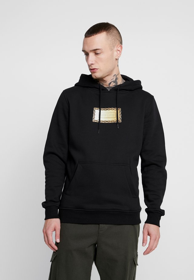 FAKE LOVE HOODY - Jersey con capucha - black