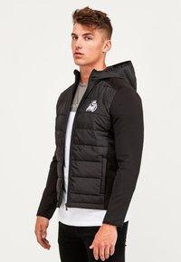 Kings Will Dream - MORSTON HYBRID PUFFER JACKET - Light jacket - black - 3