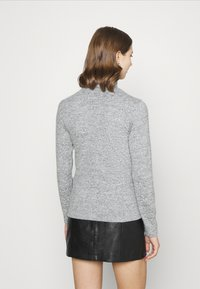 Pieces - PCPAM HIGH NECK - Jumper - light grey melange - 2