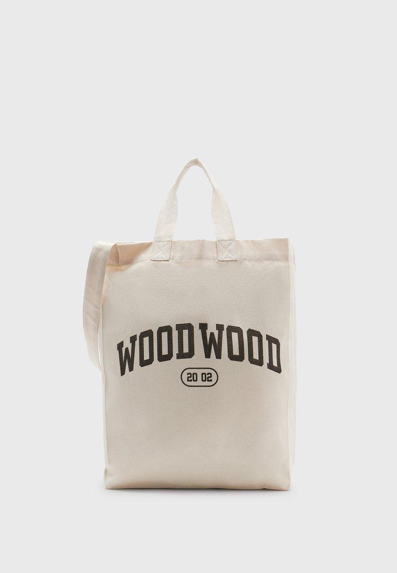 Wood Wood - HIGH UNISEX - Cabas - off-white/black
