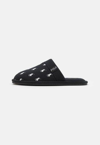 KOLLIN - Slippers - black/white
