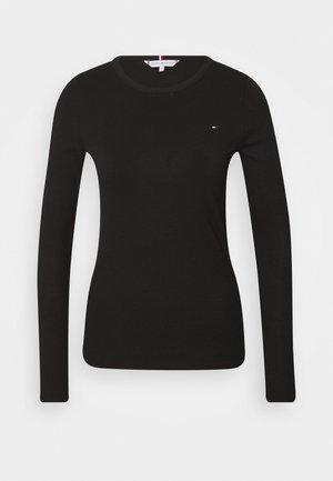SKINNY OPEN  - Long sleeved top - black