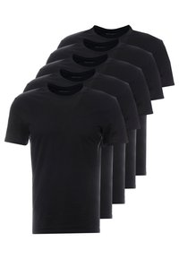 Pier One - 5 PACK - T-shirts basic - black - 0