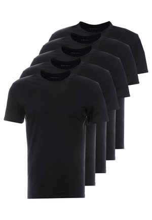 5 PACK - T-shirt - bas - black