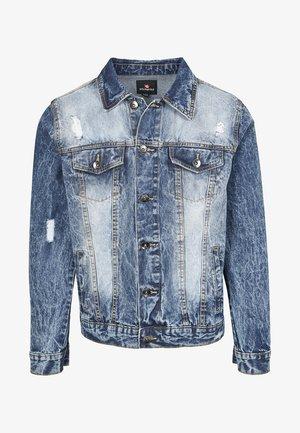 HERREN BASIC TRUCKER JACKET - Denim jacket - sand blue